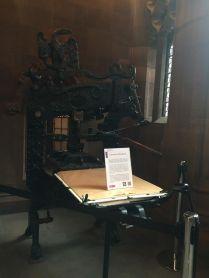 Une des plus vieilles imprimantes John Rylands Library.