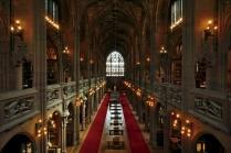Vue de la salle principale de John Rylands Library. (crédit photo: http://johnrylands.tumblr.com/)