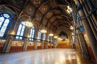 Salle principale de la cathédrale de Manchester.